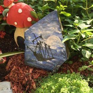🇨🇦Hand Painted Garden Rock